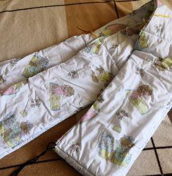 Бортик для дитячого ліжечка
