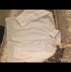 Сорочка на хлопчика біла шорти в клітку HM