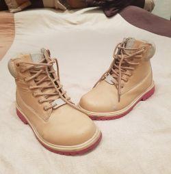 Ayakkabı natur deri 34-35 boyutu