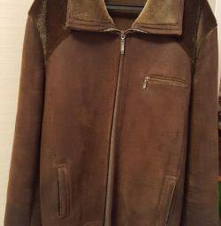 Sheepskin coat for men 56 size
