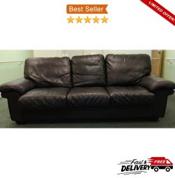 3 Seater Highly Durable Full-Grain Soft Leather So