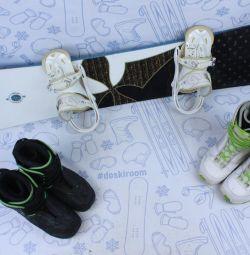 Сноуборд Burton Troop 146 см + крепления + ботинки