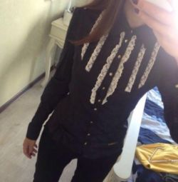 Openwork blouse