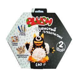 Fluffy Plasticine Plush (black and white)
