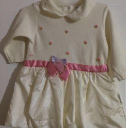 Φόρεμα με μακριά μανίκια για κορίτσια