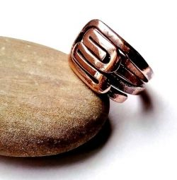 Maya-A amulet ring from the CUPRUM series, copper