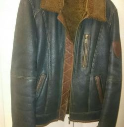 Sheepskin coat natural. 46-48r-r