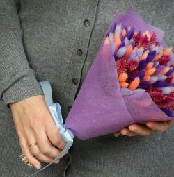 Μπουκέτα αποξηραμένα λουλούδια.