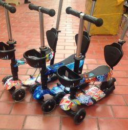 CHILDREN'S SCOOTER BECAUSE 5 IN 1 SCOOTER PRINT