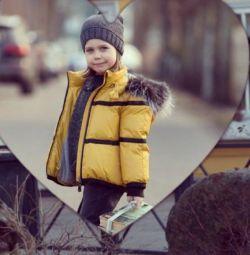 Jacket and hat, collar (winter) Gulliver 122 gloves