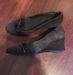 Туфли замшевые, 36 размер