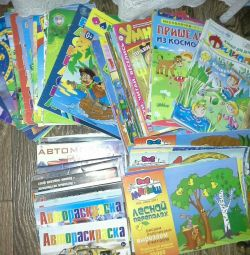 Children's magazines and coloring books