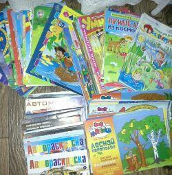 Reviste pentru copii și cărți de colorat