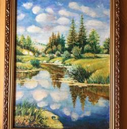 Picture canvas oil frame