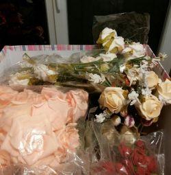 Flori artificiale pentru floristica