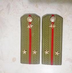 SSCB'nin omuz askıları - teğmen