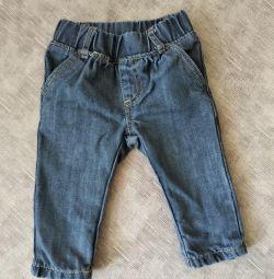 Denim παντελόνι για το μωρό