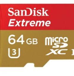 New in SanDisk Extreme microsd pack U3 Class10 64Gb
