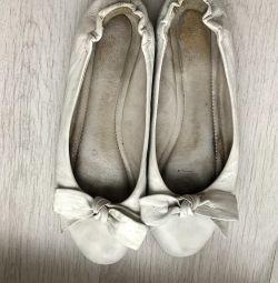 Ballet flats white mania grandioza original