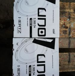 2 pcs. Hertz bass speakers