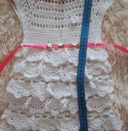 Платье вязанное с 6 месяцев до 2,5 лет