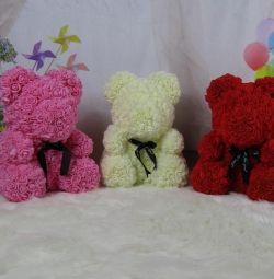 Мишки из 3D роз