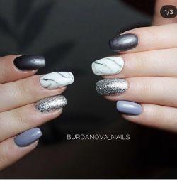 Gel-varnish, manicure