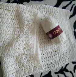Λευκή φούστα με κροσέ!
