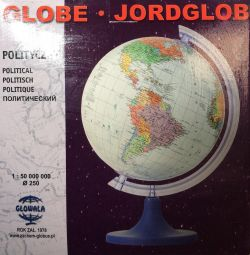 Globe 250mm Political