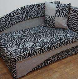New children's sofa canape Leon Zebra Gray