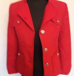 Red jacket on the lining