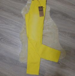 New yellow jeans