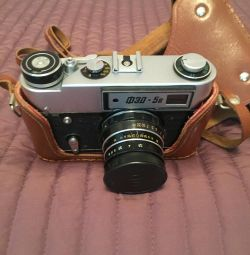 Фотоаппарат ФЭД 5в в кожаном чехле