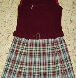 Uniformă școlară d / fete.Sarafan p 146.