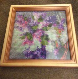 Imagini din mozaic și broderie. confecție manuală