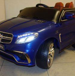 Дитячий електромобіль Mercedes GLE Brabus Синій