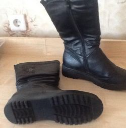 Bayan botları yeni kış r 40 deri