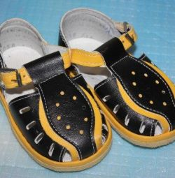 New Black and Yellow Sandals