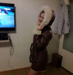 Italian sheepskin coat
