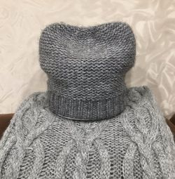 Used hat and snood