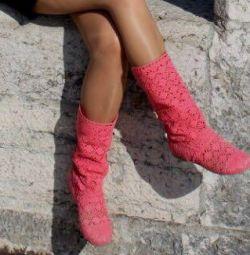 Πλεκτά μπότες