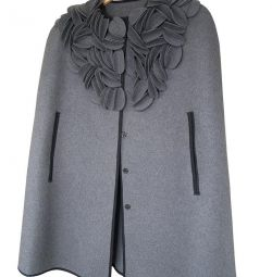 Women's demi-season cape coat, new