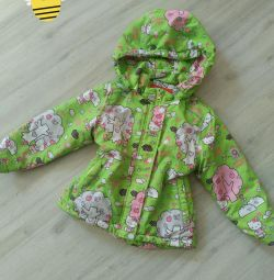 Children's jacket on sintepon, autumn-spring