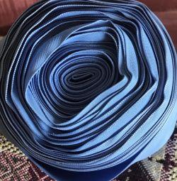 Ταινία μπλε μετάξι πλάτους 7 cm μεγάλου κυλίνδρου
