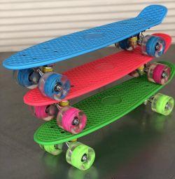 Skate με λαμπερούς τροχούς.