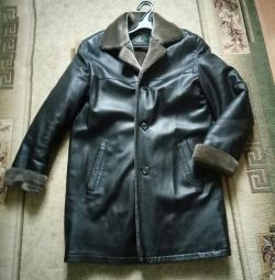 Sheepskin coat natural man's 48-50