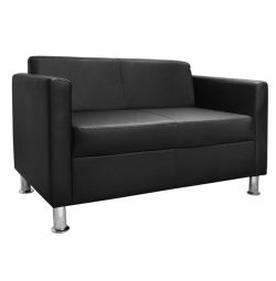 SOFA 2 CUBO PU BLACK HM3033.02