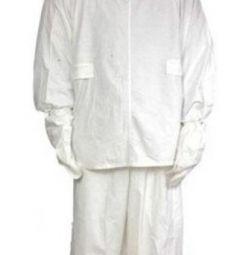 Στολή καμουφλάζ, νέο, μέγεθος 3, λευκό.