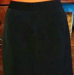 Skirt black straight