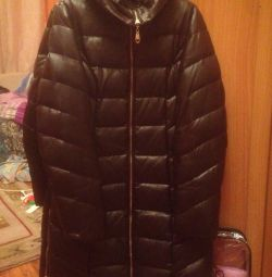 Down jacket leather size 44